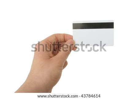 photo of blank magnetic card - stock photo