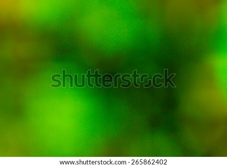 Photo of bokeh lights background blur. The predominance of green