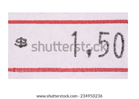 Photo of Cheap price - stock photo