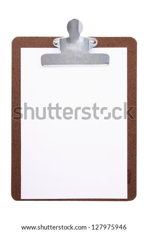 Photo of Clipboard and paper
