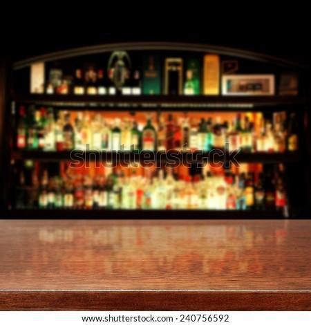 photo of dark bar  - stock photo