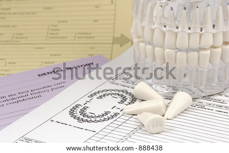 Photo of Dental Forms and Dental Model