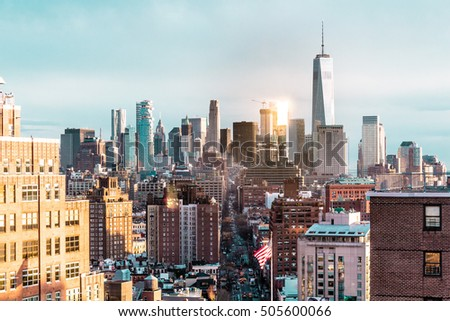 Photo of Elevated view of Manhattan, New York City