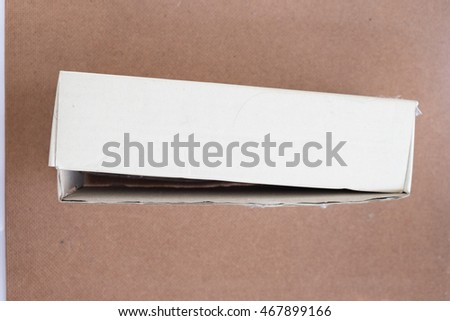 Photo of Empty business card cardboard box