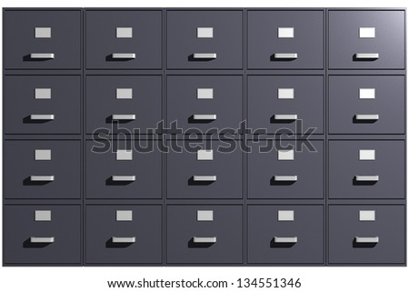 Photo of File cabinets (3D) - stock photo
