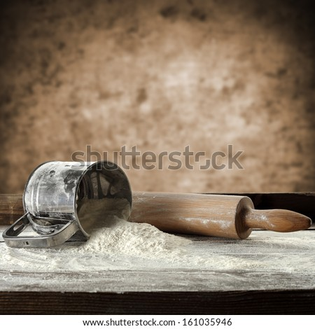 photo of flour  - stock photo