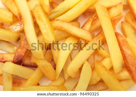 Photo of fried potatoes closeup