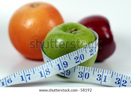 Photo of Fruit and a Tape Measure