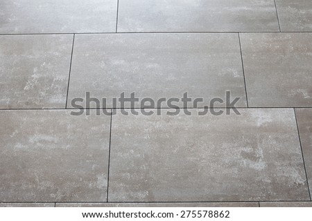 Photo of grey floors with large tile horizontally - stock photo