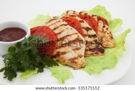 Photo of grilled meat on a plate