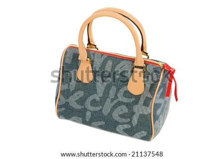 Photo of handbag on a over white background