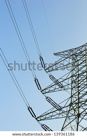 Photo of high voltage lines