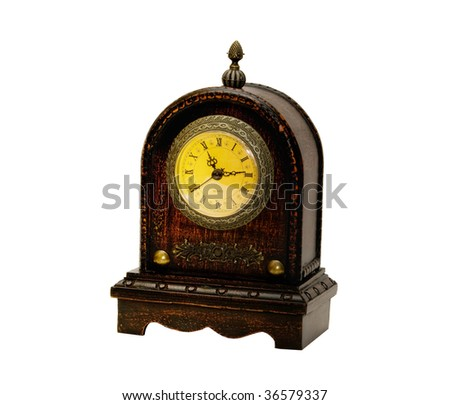 Photo of isolated antique clock