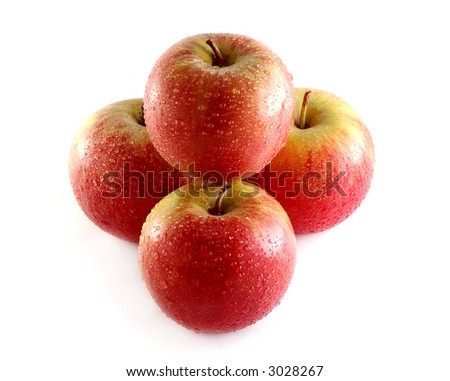Photo of isolated fresh red apple.