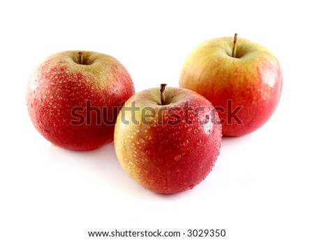 Photo of isolated fresh red apples.