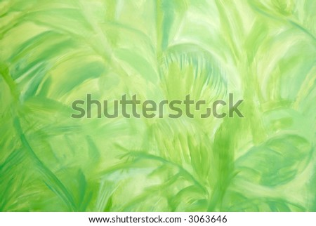 Photo of jungle pattern on zoo wall for abstract background - stock photo