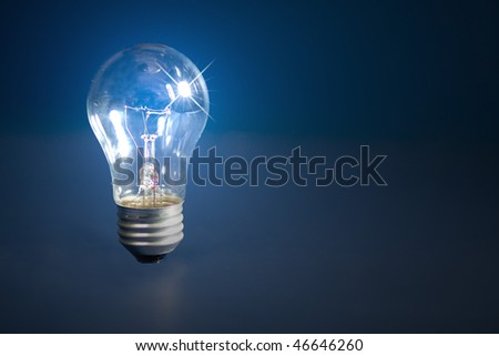 Photo of light bulb with few effects for interest such as flares and lighted areas