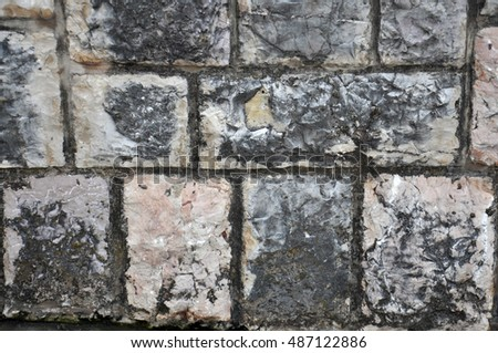 Photo of natural beauty, the coast of the Adriatic Sea.    Picture decorative stone surfaces. fancy texture.