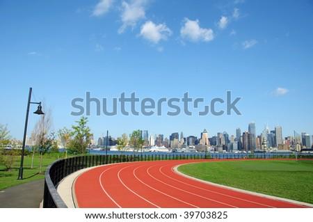 photo of new york city cityscape skyline, nyc, usa - stock photo