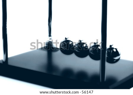 Photo of Newtons Balls With Blur Effect. - stock photo