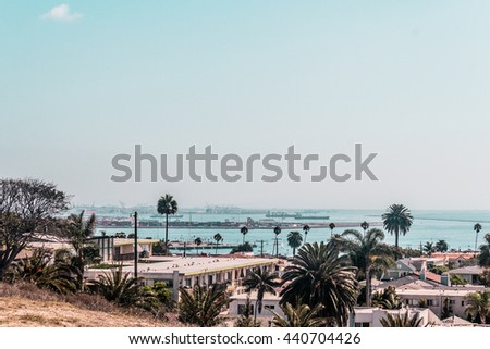 Photo of Oceanview from California Coast, United States - stock photo