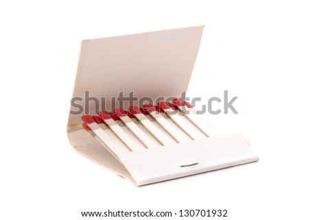 Photo of Open matchbook - stock photo