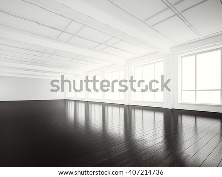 White open space office interior stock photo 195992456 for Open space inside a building