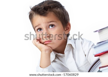 Photo of pensive youngster concentrated on something - stock photo