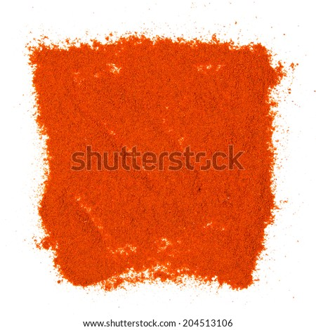 Photo of pepper powder isolated on white - stock photo