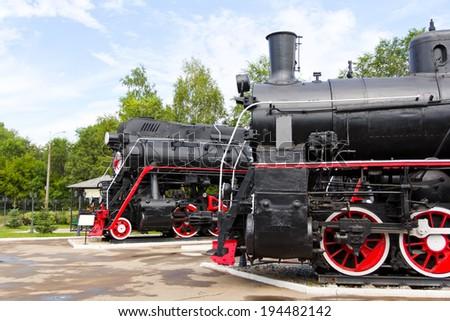 Photo of profile Russian rail road locomotives - stock photo
