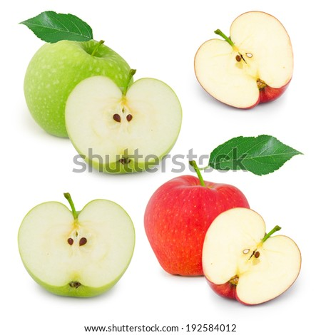 Photo of red and green apple collection