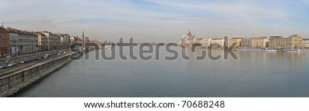 Photo of River Danube flowing through Budapest