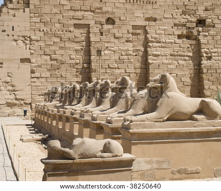 Photo of ruins in Egypt - stock photo