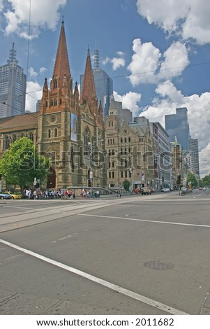 Photo of Saint Paul Cathedral (Melbourne, Australia) - stock photo