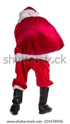 Photo of Santa Claus on white background. - stock photo