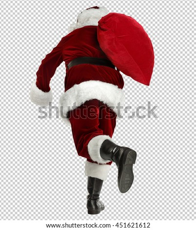 Photo of  santa claus  with saved path  - stock photo