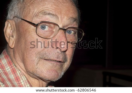 Photo of senior older man - stock photo