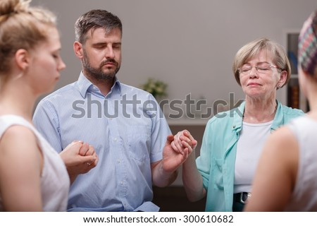 Photo of support group for people with depression - stock photo