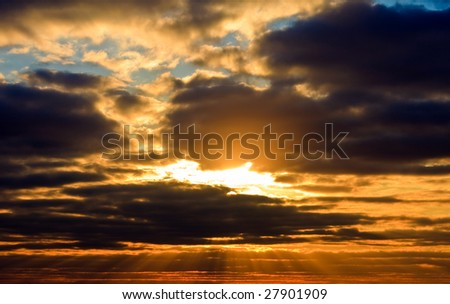 photo of the blue sky with clouds