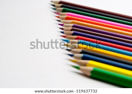 Photo of the colored pencils