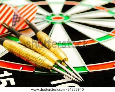 photo of the darts arrow at the dartboard