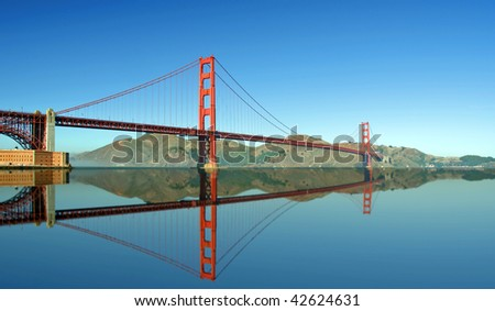 photo of the golden gate bridge in san francisco - stock photo