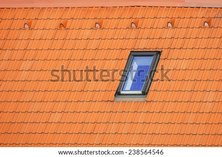 Photo of The Modern Window in Roof  - stock photo