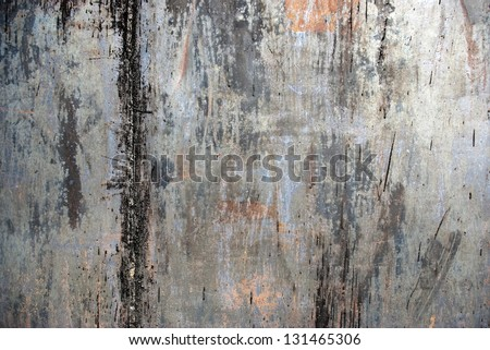 Photo of the texture of rusty painted metal - stock photo