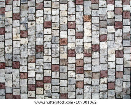Photo Of Tile Texture Ground Brown And Grey