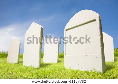 photo of tombstones at day