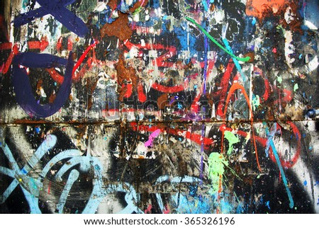 Photo of urban background or paint texture on wall - stock photo