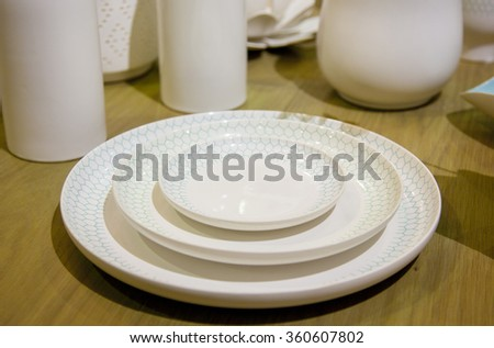 Photo of utensils for home and kitchen - stock photo