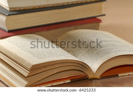 Photo of Various Textbooks - Education Related - Library
