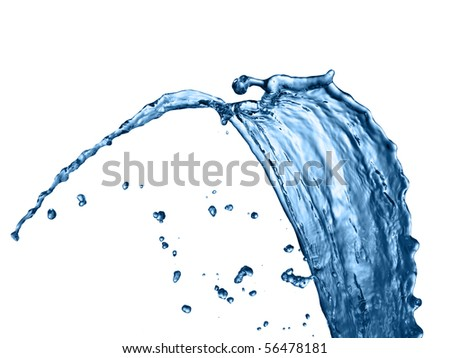 Photo of water splash - stock photo